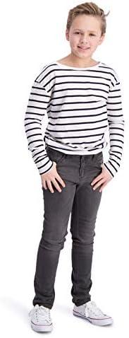 BOOF - Pantalones Vaqueros de algodón para niños (Corte Regular, Color Gris