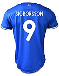 Generic 20162017Island 9Kolbeinn sigborsson Home Football Jersey in Blau