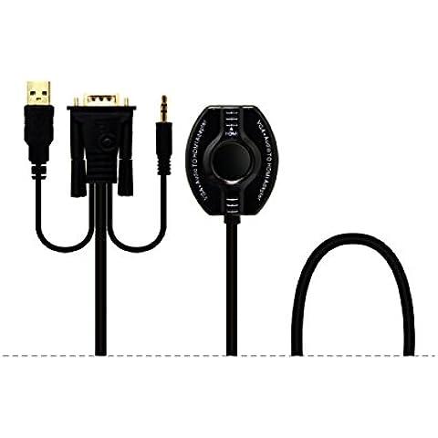Silk Road VGA / Audio a HDMI femminile Scaler / convertitore USB integrato di ricarica Supporto cavo 1080p in