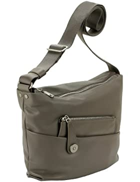 MANDARINA DUCK Boboli Damen Leder Schultertasche Tasche Bag (cm.29,5x26,5x5) 6GT07981 beige
