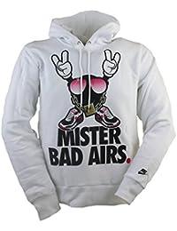 Nike para hombre Mister Bad Airs sudadera con capucha sudadera con capucha, hombre, blanco, XL