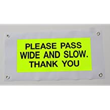 """Horse Driving Carriage Hi-Viz Road Safety Banner approx 24"""" x 12"""" hard wearing"""