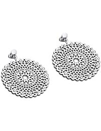 Lotus Style Collection JLS 1719 – 4-1 privilegio pendientes de acero inoxidable plata