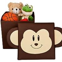 Preisvergleich für Sitzhocker - Sitztruhe - Spielzeugbox - Aufbewahrungskiste - Motiv: Affe
