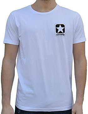 Converse 10007301 Crew Logo Camiseta Hombre