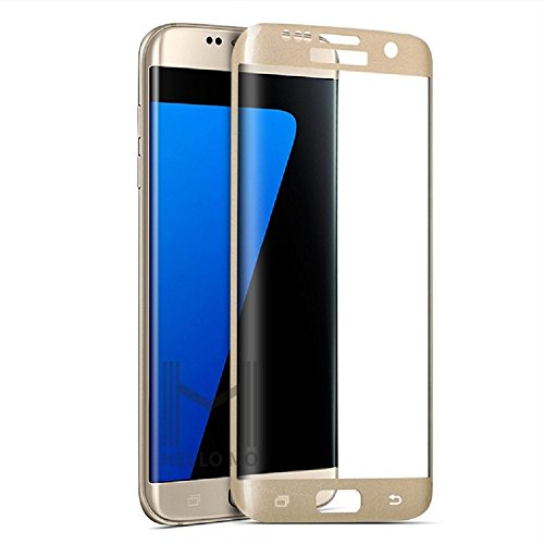 Market Affairs Premium 3D Full Screen Edge To Edge Coverage 2.5D Curved HD+ Tempered Glass Screen Guard Protector For SAMSUNG GALAXY S7 EDGE (Gold)