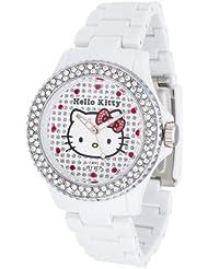 Hello Kitty Mädchen-Armbanduhr Nichinan White Stones Analog Quarz Plastik HK146S-041