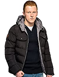 Bellfield - Black Radon Hooded Puffa Jacket - Mens