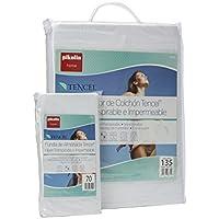 Pikolin Home - Set híper-transpirable e impermeable con protector de colchón (90 x 190/200 cm) y funda de almohada (40 x 90 cm), color blanco
