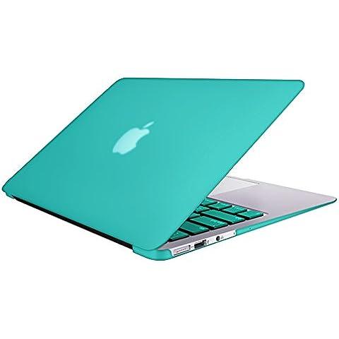 SlickBlue Mate clips dura concha El caso de resorte y el acoplamiento de la piel Europeo teclado estilo de Macbook Air de 13 pulgadas (Modelo: A1369 y A1466) -