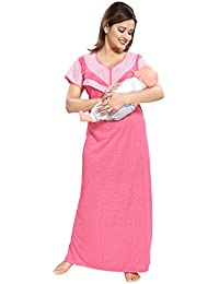 14e50622a6c TUCUTE Women s Beautiful Dotted Print Feeding Maternity Nursing  Nighty Nightwear.