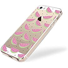 Funda para iPhone 5, iPhone 5s, ruirs Nice Fashion diseño creativo Skin de silicona TPU para iPhone 5/5S (Sandía)