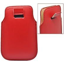 Accesorio Maestro Etui en simili cuir verter Alcatel One Touch Pop C1 Rouge