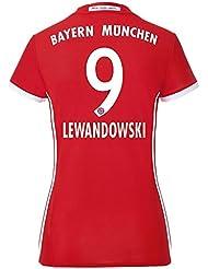 adidas FCB H JSY W Première - T-shirt de club  Bayern FC pour Femme, Rouge / Blanc