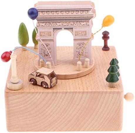 Baoblaze Cas Musical en Bois Créatif Boîte à Musique Décoration de Maion | Qualité Fiable