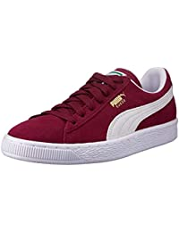 Puma Suede Classic+, Unisex Adults Low-Top Trainers, Red (Burgundy/White 75), 11 UK (46 EU)