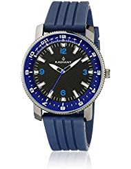 Radiant RA106602 - Reloj con correa de piel para hombre, color negro / gris