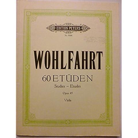 Etudes(60) Op.45 - Viola - Book