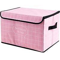 Preisvergleich für Nlj-YMS Faltbare Aufbewahrungsbox Mit Aufbewahrungsbox Pink