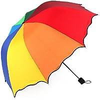 ShopSquare64 Honana HN-KU5 Flouncing Dome Sombrilla Plegable para sombrilla Sun Rain Wind para Lady Girls