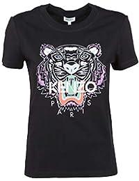 0ac13dc8 Kenzo Women's F952TS7214YB99 Black Cotton T-Shirt