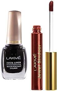 Lakme Insta Eye Liner, Black, 9ml & Lakme Jewel Sindoor, Maroon, 4.5ml