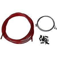 KKJLXX For Bicicleta Completa Frontal y Posterior Interior Exterior Cable de Engranaje de Freno Juego de Cables - Rojo