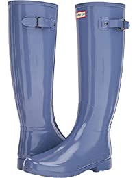 Hunter Donna Original Refined Tall Gloss La Neve Pioggia Wellingtons Stivali 7ce5fbeedc3