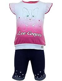 Lee Cooper Ensemble T-shirt Manches courtes et Legging Bébé Fille Cat