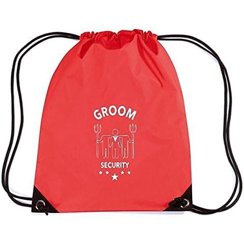 T-Shirtshock - Zaino Zainetto Budget Gymsac MAT0038 Groom Security Fork Maglietta