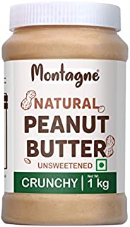 Montagne All Natural Peanut Butter Crunchy 1 KG [Unsweetened]