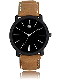 Swadesi Stuff New Arrival Leather Belt Black Dial Analog Watch For Men & Boys 00904