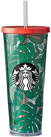 Starbucks foglie e pizzo (680,4 a freddo, Green Travel Cup (680,4 pizzo gram) d4380e