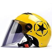 Casco de la Motocicleta eléctrica Hombres y Mujeres Verano Doble Lente de protección Solar Casco UV