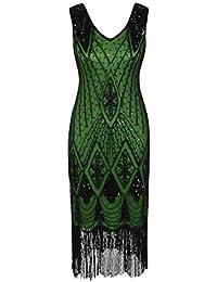 258e81f8dce PrettyGuide Femmes 1920s Gatsby Cocktail Paillette Art Déco Robe De Flapper