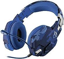 Trust Gaming GXT 322B Carus Cuffie da Gioco, con Microfono Flessibile, Controllo del Volume ed Esclusione Audio del...