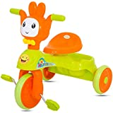 GoodLuck Baybee - Children Plug And Play Happy Baby Tricycle Kid's For 1-3 Years Baby Trike Ride On Outdoor | Suitable For Babies,Boys & Girls -(Green)