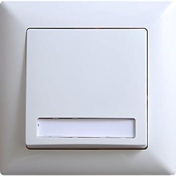 visage klingeltaster mit namensschild unterputz wei gunsan 01281100200112 vde 12v amazon. Black Bedroom Furniture Sets. Home Design Ideas