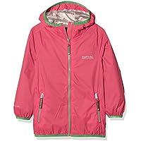 Regatta Kids Lever II–carcasa impermeable chaquetas, Infantil, color hot pink, tamaño talla 9 - 10