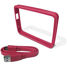 WD Grip Pack  - Marco de goma y cable USB 3.0 para My Passport Ultra 1TB, fucsia