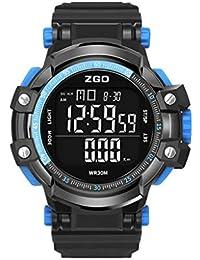 2493d856dfe0 TD Masculino Reloj De Pulsera Deportes Y Ocio Sincronización Paso Digital  con Despertador Reloj Electronico (