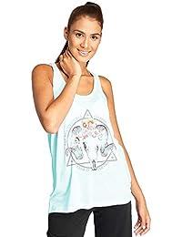 Brave Soul Damen T-Shirt Tank-Top cool Aufdruck Motiv Steinbock Blume Ram c4cfa64fa1