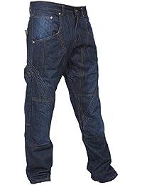 newfacelook Mens Work Jeans Heavy Duty Multipurpose Worker Jeans Casual Working Pants Black