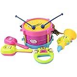 HENGSONG 5 Stück Jazz Drum Kits Rasseln Percussion Kinder Baby Musikinstrument Spielzeug Geschenk Set