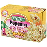 Freshly Microwave Butter Popcorn Fat Free, 3 Pieces - Pack of 1