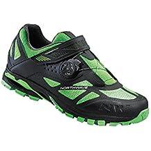 NORTHWAVE ARAÑA PLUS 2 zapatos bicicleta de montaña, negro-verde-fluoro, schuhgröße:gr. 47