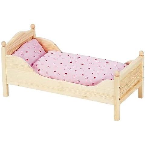 Goki - Cama de madera para muñecas