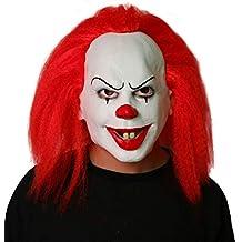 Uus Máscara de Payaso Pelirroja, Fiesta de Halloween Tricky Scary Props Horror de látex Cara