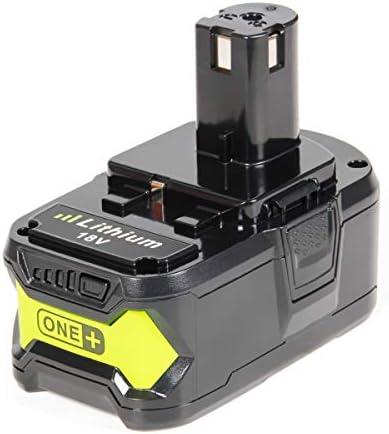 SISGAD 18V 5.0Ah P108 Batteria sostitutiva agli agli agli ioni di litio per Ryobi One + P108 P107 P100 P122 P104 P105 P06 P102 P103 P200 con indicatore LED RB18L40 RB18L50 RB18L25 RB18L15 RB18L13 BPL-1815 BPL-1820G BPL18151 BPL1820 Trapano compatta per cordless (1  b74853