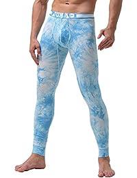 YiLianDa Hombre Pantalón Ropa Interior Térmica Para Hombre Calzoncillos Largos Pantalón ...